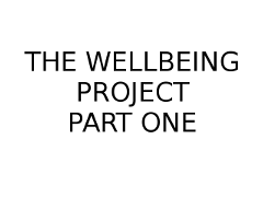 Wellbeing Part 1 image